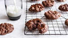 TRIPLE CHOCOLATE CHEESECAKE COOKIES. Chocolate chunks and cream cheese together in a cookie – pure genius!