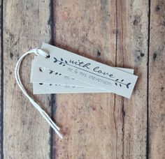Wedding favor tags or even bookmarks! I love this cost friendly idea.