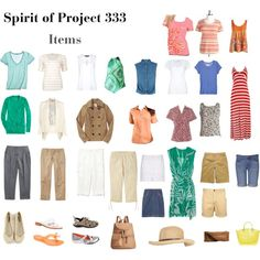 Cute Project 333 summer wardrobe. This is actually the closest that I have  seen to 3bf5bb6fe