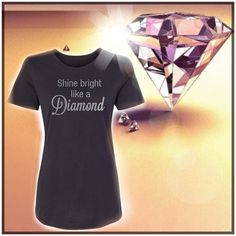 Graphic Tee - Shine Bright Like a Diamond Material content: 40% Polyester, 60% Cotton Designed and printed in Utah ⛔️Price Firm⛔️ Salt Lake Clothing Tops Tees - Short Sleeve