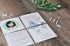 Papelaria Casamento debora e Fer Daminhas set
