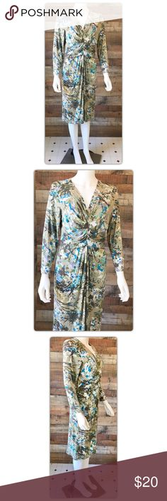 """CAbi #850 Jersey Knit Dress Pit to pit measures 21"""" Length from shoulder 44"""" Waist 38 Gently used with no flaws CAbi Dresses"""
