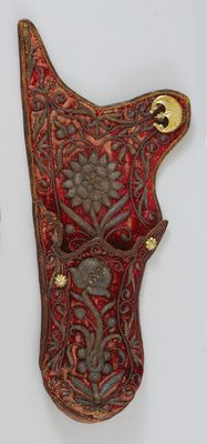 Arrow quiver / quiver set consisting of bow quiver, arrow quiver, shoulder strap and thumb ring Archery Quiver, Arrow Quiver, Turkish Bow, Mounted Archery, Contemporary Decorative Art, Medieval Embroidery, Medieval Furniture, Bow Cases, Renaissance Era