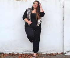 Plus Size Fashion - From the corners of the Curve.: Sequin Bomber Babe