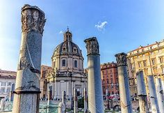 Elena Duvernay - Ruins of Forum Romanum on Capitolium hill in Rome, Italy Famous Places, Rome Italy, Pisa, Tower, Building, Artwork, Travel, Collection, Italy