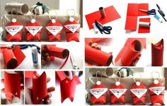 Unique Christmas Decorations Made From Toilet Paper Rolls - Find Fun Art Projects to Do at Home and Arts and Crafts Ideas Unique Christmas Decorations, Easy Christmas Crafts, Kids Christmas, Christmas Ornaments, Holiday Decor, Diy Ornaments, Father Christmas, Christmas Snowman, Toilet Paper Roll Crafts