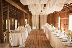 Draping for Rustic Barn Wedding Reception : allestimenti matrimonio rustico Country Wedding Decorations, Reception Decorations, Wedding Themes, Wedding Venues, Wedding Ideas, Reception Ideas, Wedding Inspiration, Wedding Ceremony, Wedding Photos