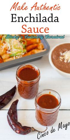This authentic red enchilada sauce is so delicious and super easy to make. It goes great with all of your favorite types of enchiladas. Recipes With Enchilada Sauce, Homemade Enchilada Sauce, Homemade Enchiladas, Red Enchilada Sauce, Sauce Recipes, Homemade Sauce, Mexican Dishes, Mexican Food Recipes, Gourmet