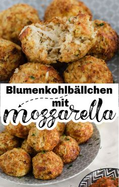 Cauliflower balls with mozzarella Veggie Recipes, Cooking Recipes, Healthy Recipes, Healthy Vegetables, Veggies, How To Cook Cauliflower, Healthy Protein, Eating Habits, Sehun