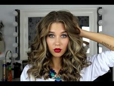 Big loose curls / Victoria's Secret soft waves (ENG.SUBS) - YouTube