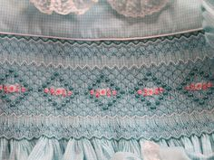 Beautiful smocking design I made from an issue of Sew Beautiful magazine. Annick Phillips