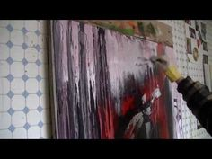 "▶ abstract speed painting ""letting off steam"" abstraktes Acrylbild ""ausgetobt..."" - YouTube"