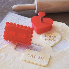 'home made' or 'eat me' stamp cookie cutter by the little picture company | notonthehighstreet.com