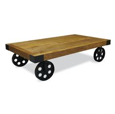 Aston Industrial Coffee table with Wheels - https://www.todaystrends.co.uk/product/aston-re-engineered-industrial-coffee-table-with-wheels-2/