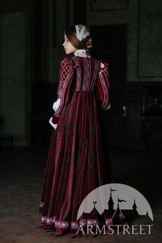 Renaissance Samtkleid Firenze Stil