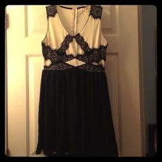 "I just discovered this while shopping on Poshmark: Black and White ""Rewind"" Dress. Check it out! Price: $20 Size: MJ"