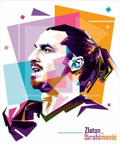 Zlatan Ibrahimovic Wpap by Soccer Art, Football Soccer, Ibrahimovic Wallpapers, The Rok, Soccer Stadium, Polygon Art, Soccer Pictures, Pop Art Portraits, Sports Figures