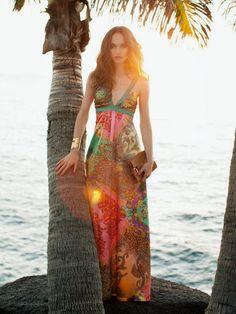 vestido larga de verano de Burda