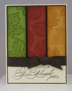 Stampin Up Thanksgiving Cards - Bing Images Stampin Up Karten, Stampin Up Cards, Cute Cards, Diy Cards, Leaf Cards, Harvest Moon, Card Tags, Halloween Cards, Paper Cards