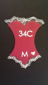 Cute to include in your bachelorette party invites so that the bride-to-be gets the right size!