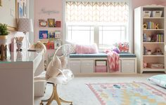 Pretty pink and gold big girl bedroom makeover including plenty of whimsical touches!