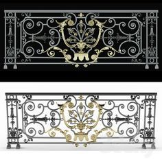 models: Other architectural elements - classic balcony tancodien Balcony Railing Design, Staircase Design, Grill Gate Design, Baroque Architecture, House Architecture, Iron Balcony, Grades, Iron Doors, Iron Gates
