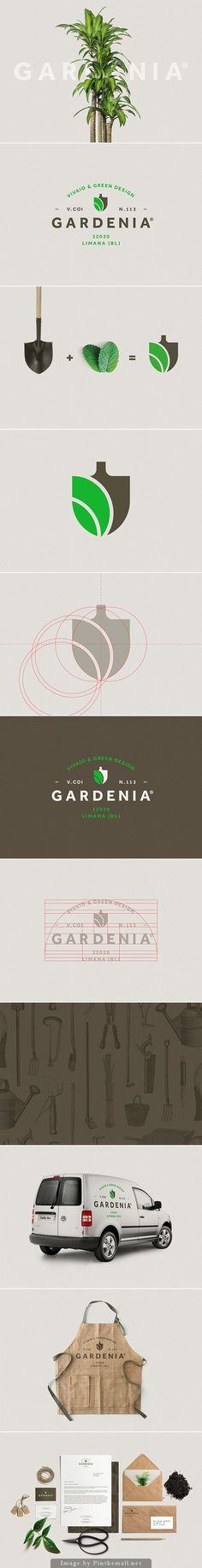 Gardenia identity by Luca Fontana // Creación de un logo simple que expresa fácilmente su propósito.