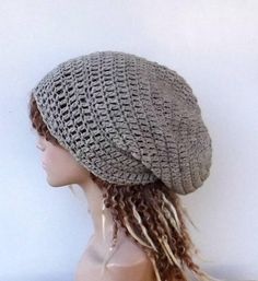 a3101d139b4 Oatmeal WOOL slouchy beanie Hat crochet winter hat virgin wool Beanie men  hat