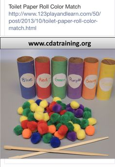 Paper roll colour match! Helps children's colour recognition and literacy skills by identifying each word!