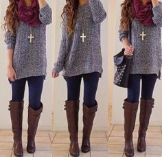 Winter outfit. Cozy sweater. by melinda