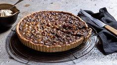Walnut, macadamia and honey tart.