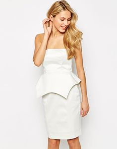 Pin for Later: Your Summer Wardrobe Isn't Complete Without a Little White Dress Hedonia Teresa Pencil Dress With Structured Peplum Hedonia Teresa Pencil Dress With Structured Peplum (£38, originally £80)