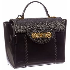 Style yourself with the ultimate Versace Signature Lock Leather women s  Handbag and stand out from the crowd 0467623fae215