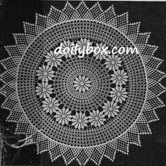 Free Vintage Crochet Peasant Doily Pattern