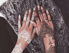 Imagine henna, white, and black