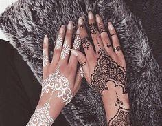 Imagine henna, white, and black