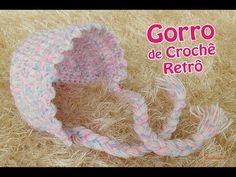 Gorro Newborn de Crochê - Retrô - Professora Simone - YouTube
