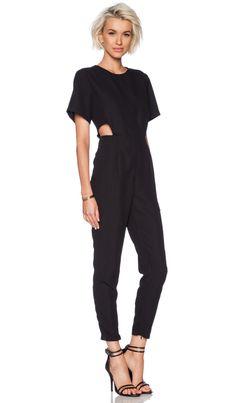 ASILIO Blank Canvas Jumpsuit in Black | REVOLVE