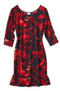 Merona Floral Print Dress, $27.99, available at Target.
