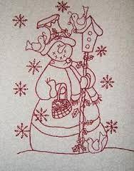 Resultado de imagen para colchas navideñas en redworks