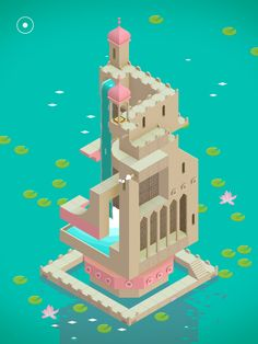 Monument Valley | Gameplay | UI, HUD, User Interface, Game Art, GUI, iOS, Apps, Mobile Games, Grahic Desgin, Puzzle Game, Brain Games, ustwo | www.girlvsgui.com