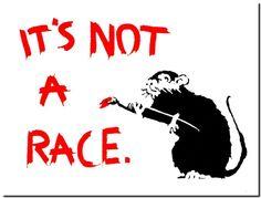 Aliexpress.com : Buy BANKSY STREET ART CANVAS PRINT Its not a race ...