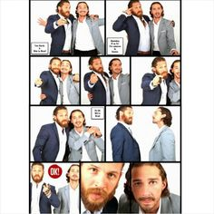 Tom Hardy and Shia Labeouf collage