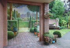 Mural on a garden wall