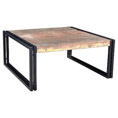 Rustic Reclaimed Wood Coffee Table - (16H x 35W x 35D) - Natural - Timbergirl : Target