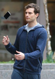 Jamie Dornan Runs in the Rain for 'Fifty Shades of Grey'!: Photo Jamie Dornan makes us melt with that adorable smile while filming scenes for his movie Fifty Shades of Grey on Wednesday (January in Vancouver, Canada. Shades Of Grey Film, Fifty Shades Movie, Fifty Shades Trilogy, Christian Grey, Jamie Dornan, Dulcie Dornan, Running In The Rain, Grey Pictures, Mr Grey