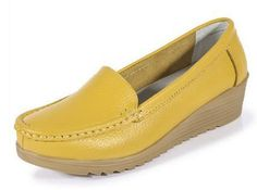 High Quality Cowhide Genuine Leather Preppy Style Comfortable Flats