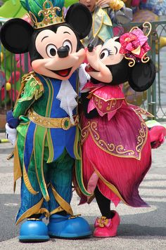 Mickey & Minnie. I would like to visit this place one day. Please check out my website thanks. www.photopix.co.nz