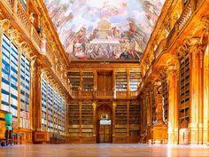 Biblioteca Strahov Prague; Strahover KlosterBibliothek, Prag; Library of Strahov Monastery, Prague