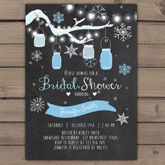 Winter Bridal Shower Invitation Winter invite door Anietillustration